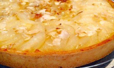 tarte aux poires amande