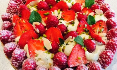 tarte fraise framboise pistache